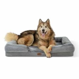 Bedsure orthopädisches Hundebett Ergonomisches Hundesofa - Hundecouch mit eierförmiger Kistenschaum für große Hunde, waschbar rutschfest Hundebetten, Größe in 106x80 cm - 1