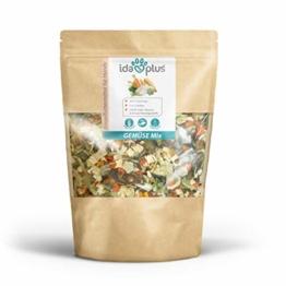 Ida Plus – Gemüse Mix 1000g XXL Packung – Barf Gemüse für Hunde – Getreidefrei & ohne künstliche Zusätze – 100% natürlich – mit Vitaminen und Mineralien - ausgewogene Rohfütterung – Barf Zusatz - 1