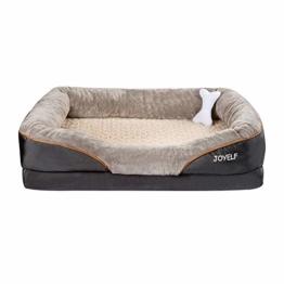 JOYELF XX-Large Foam Hundebett Kleines orthopädisches Hundebett & Sofa mit abnehmbarem waschbarem Bezug und Quietschspielzeug als Geschenk… - 1
