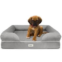 SCM Orthopädisches Hundebett Tierbett Memory Foam Hundesofa Dog Bed Premium Prestige Edition Hundekorb gelenkschonend, weich (63 x 50 cm) - 1